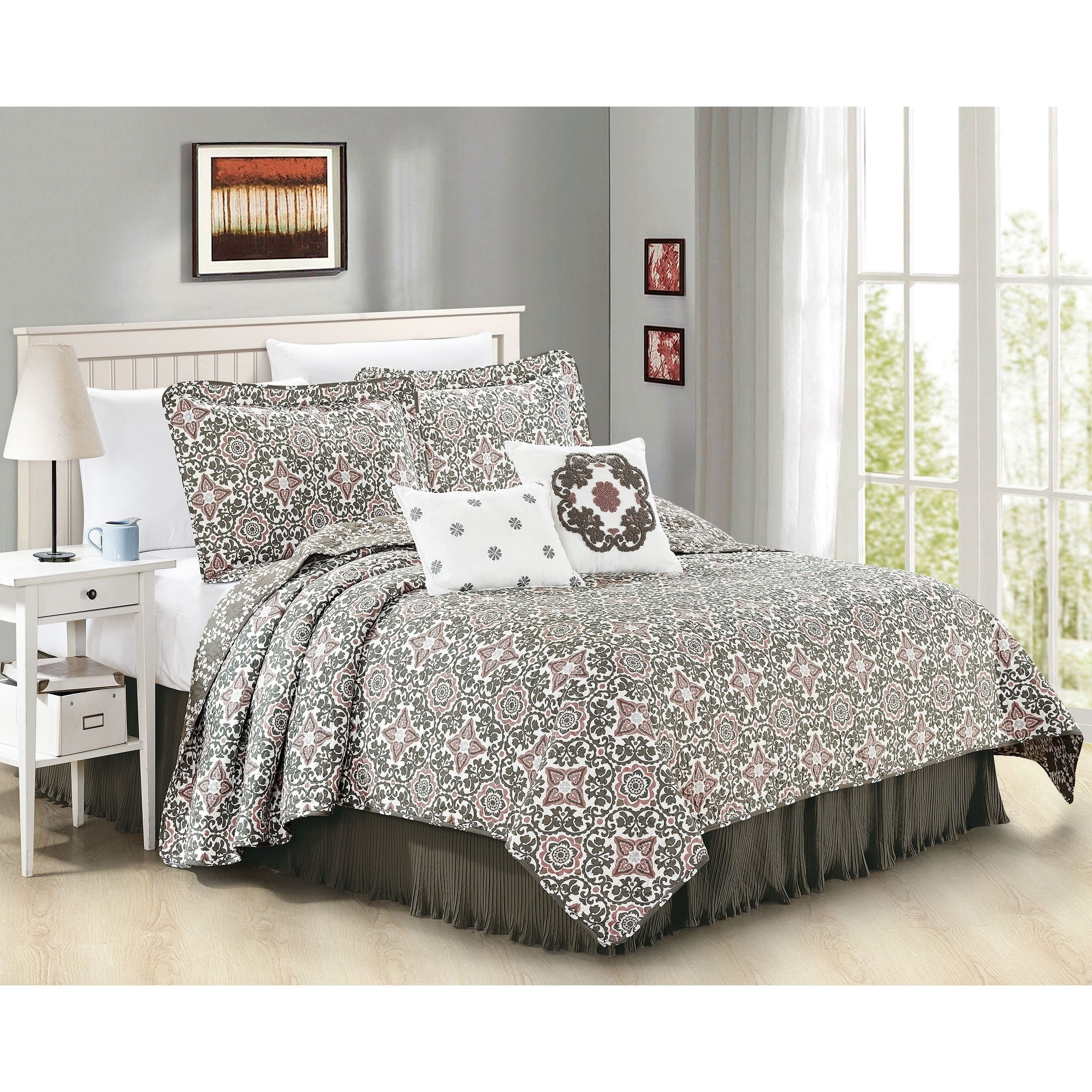 Serenta 6 Piece Coventry Printed Microfiber Quilts