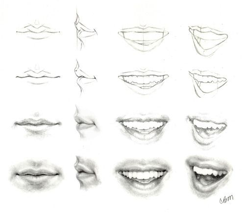 Drawing tutorial: mouth ? #cartoon | Lips drawing, Mouth ...