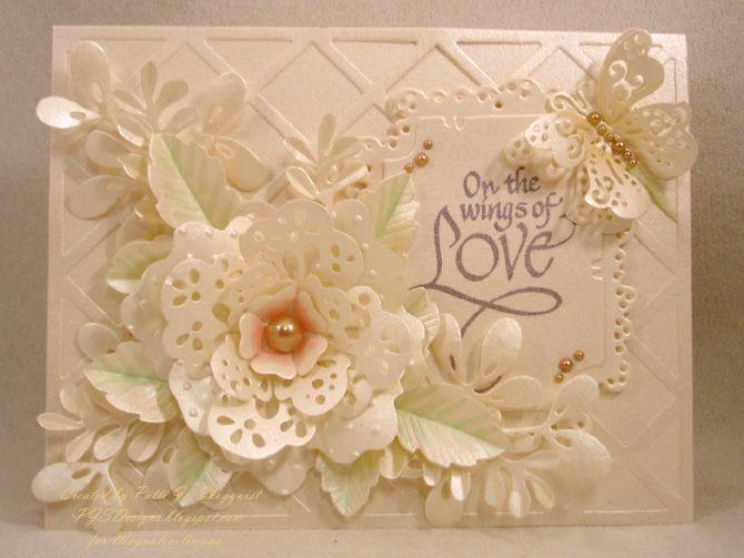Magnolia Doily Flower Just Cards I Love Cards Wedding Cards