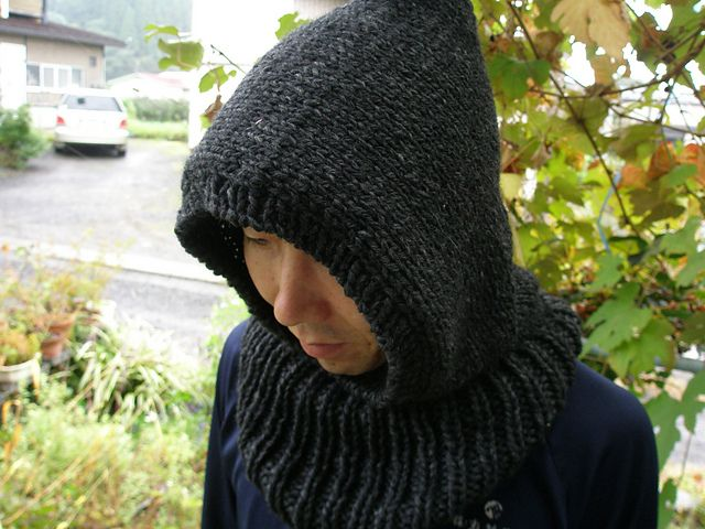 "Ravelry: B ""HOODED NECK WARMER"" pattern by michiyo"