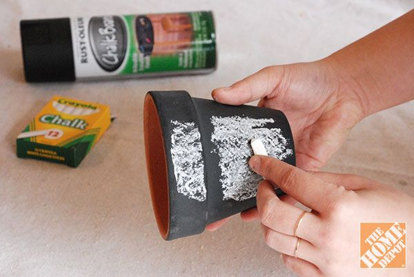 DIY Gift Ideas: Gardening Kit in Chalkboard Pot - The Home ...