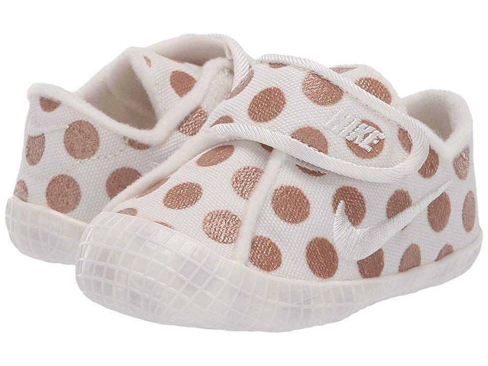 d3d1ac82f Nike Kids Waffle 1 Print (Infant/Toddler) Girls Shoes Sail/Sail/Metallic  Red Bronze