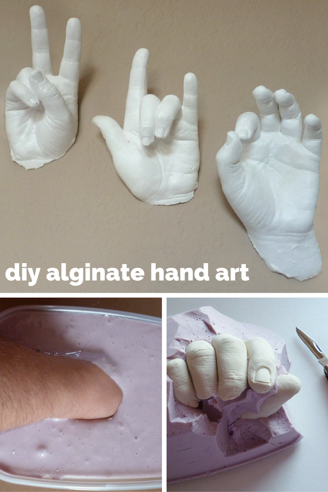 Alginate/plaster of paris sculptures.