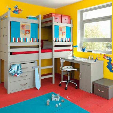 cama-alta-infantil-1 | Room | Pinterest | Camas altas, Camas y Alto