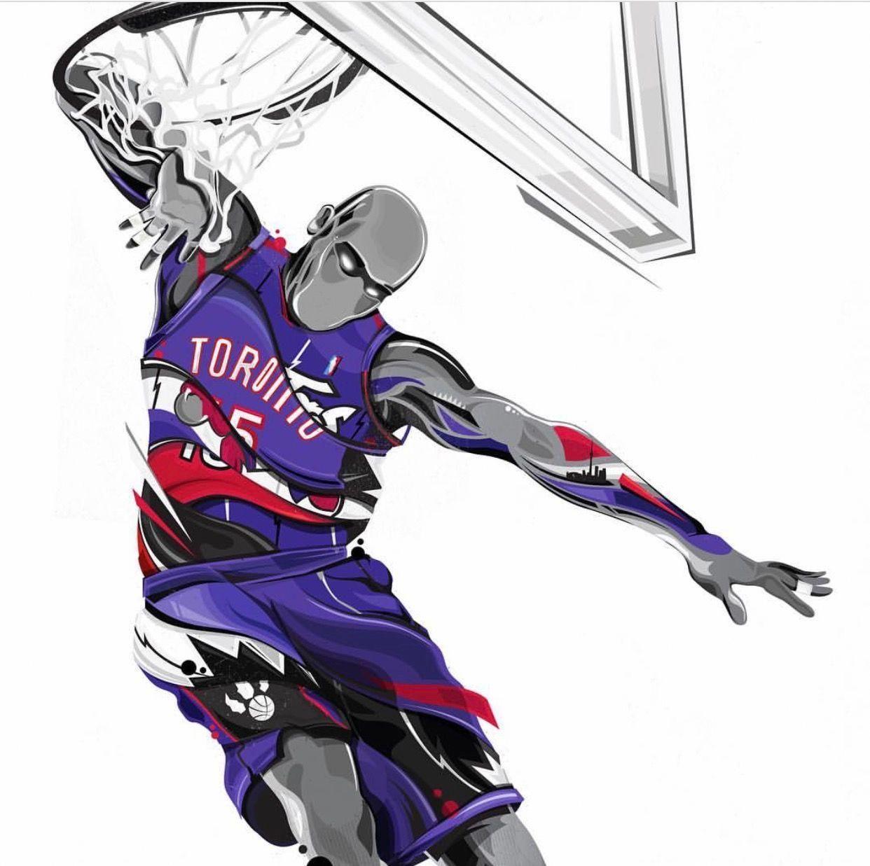 Vince Carter Basketballpractice Nba Basketball Art Basketball Art Nba Art