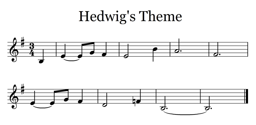First Part Of Hedwig S Theme Clarinet Music Clarinet Sheet Music Clarinet