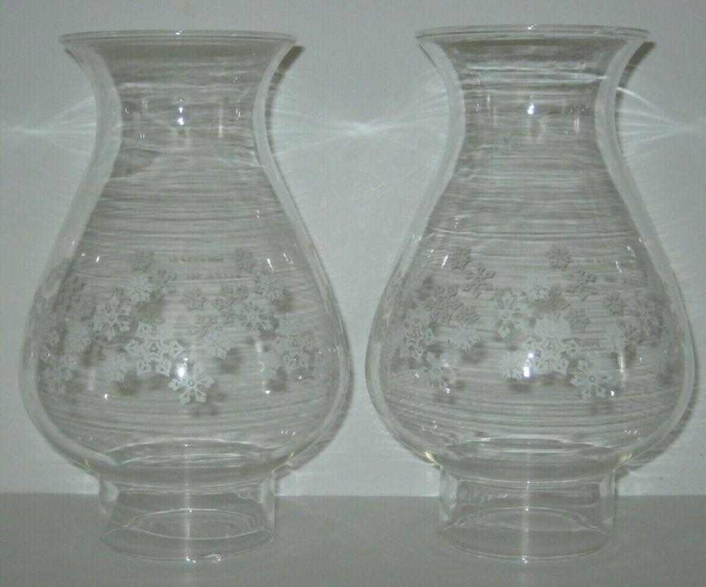 Vintage Pyrex Hurricane Oil Lamp Globe Chimney Shade Snowflake 2 1 2 Fitter Hurricane Oil Lamps Pyrex Vintage Oil Lamps