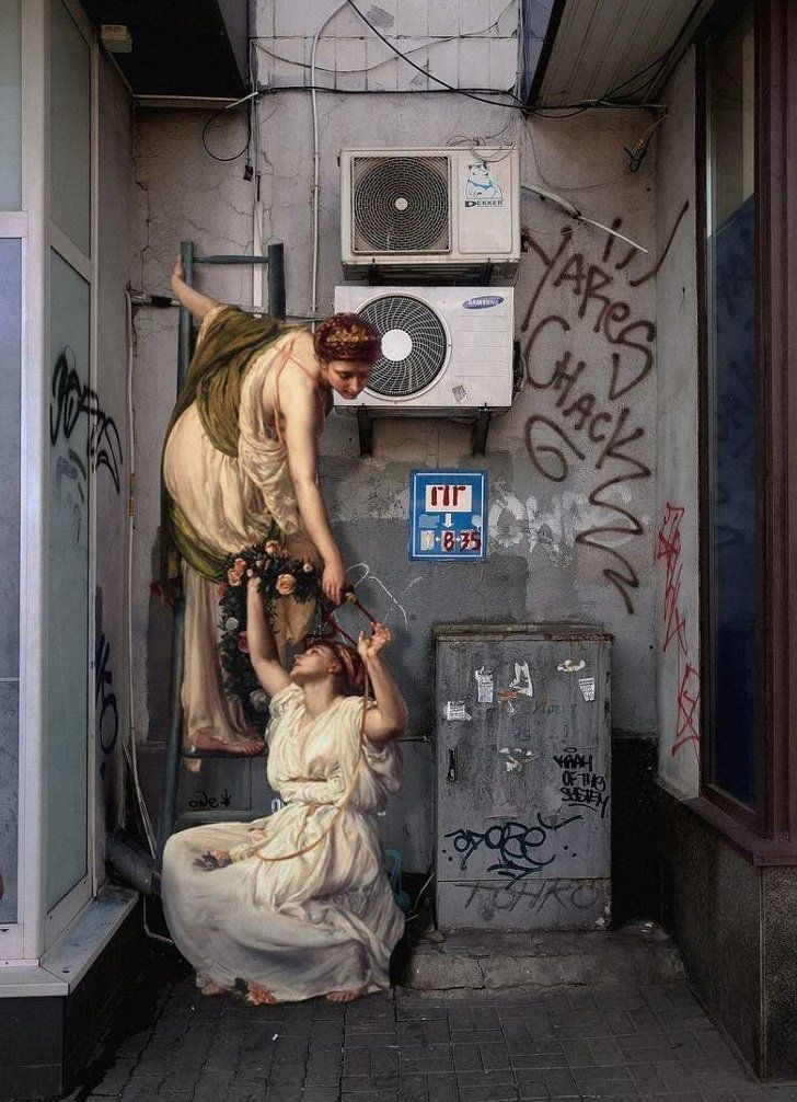 Artista traslada personajes de pinturas clásicas al mundo moderno y el resultado nos parece deslumbrante