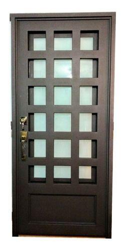 Puerta Principal De Herreria En Forja Cuadriculada – $ 13,45…
