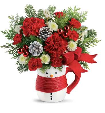 2020 Teleflora Christmas Container Snowman Can Teleflora Holiday Bouquets Help You #LoveOutLoud #Giveaway in 2020