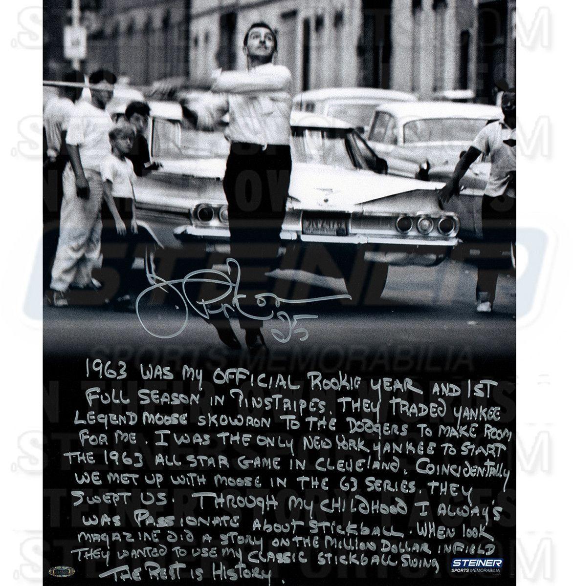 Joe Pepitone Signed Stick Ball 16x20 Story Photo