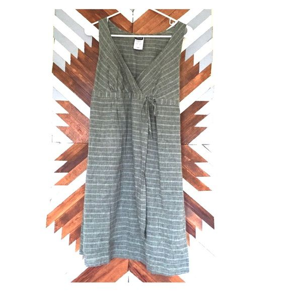 Patagonia Island Hemp crossover dress. Never worn. This dress is so cute and perfect for summer time. It has never been worn and the color is a Beautiful olive green/gray. Patagonia Dresses Mini