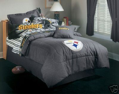 Offer NFL Bedding Pittsburgh Steelers Full Size Denim Comforter Sheet Set