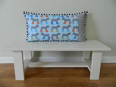 Cute pillow cover by Svetlana @ s.o.t.a.k handmade featuring Jack and Jenny.