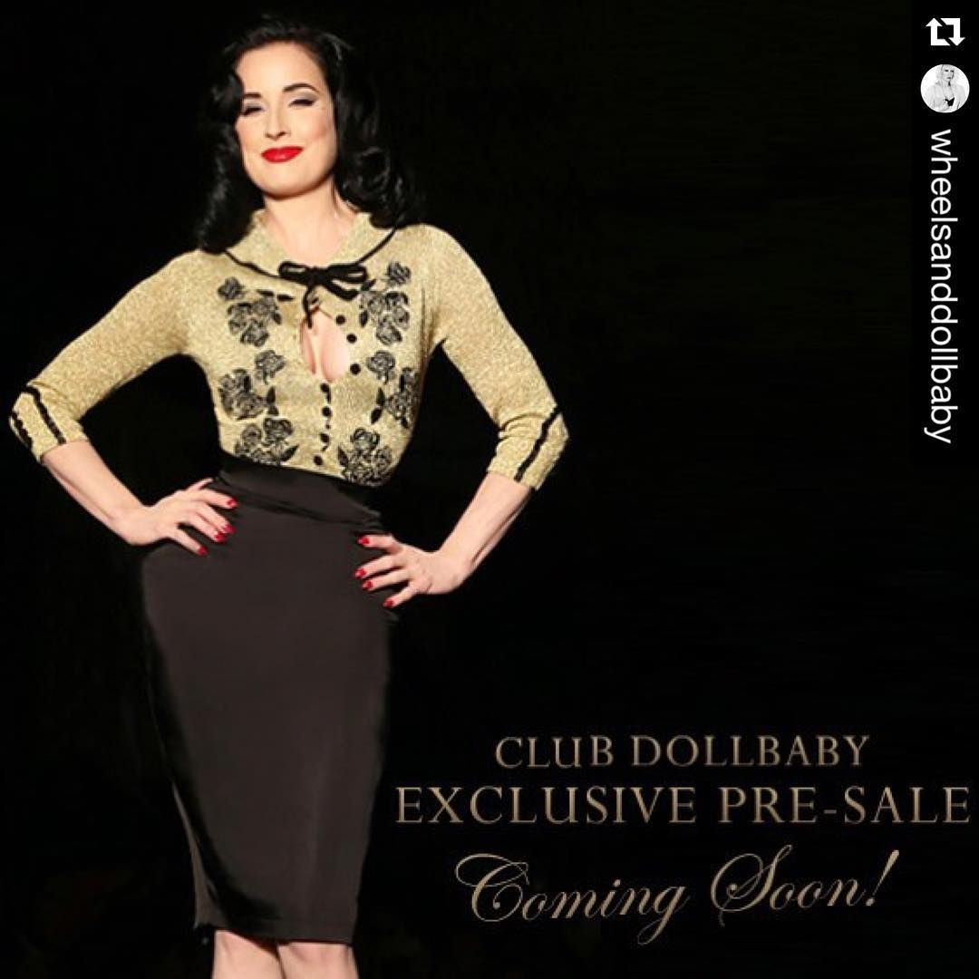 """""""#Repost @wheelsanddollbaby with @repostapp. ・・・ COMING SOON! Our most limited edition and exquisite Dita Cardigan release yet will be available for…"""""""