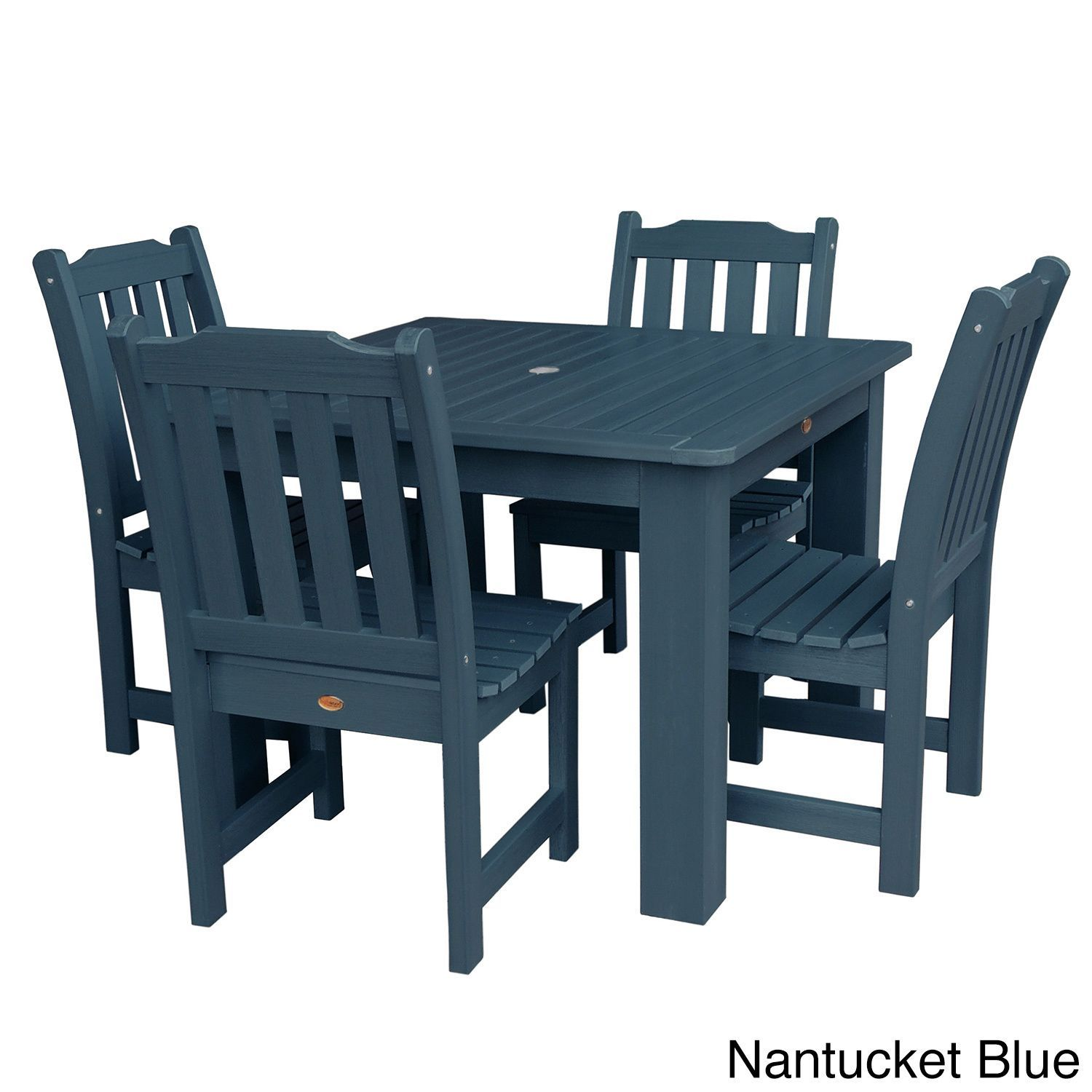 highwood eco friendly synthetic wood lehigh 5 piece square dining