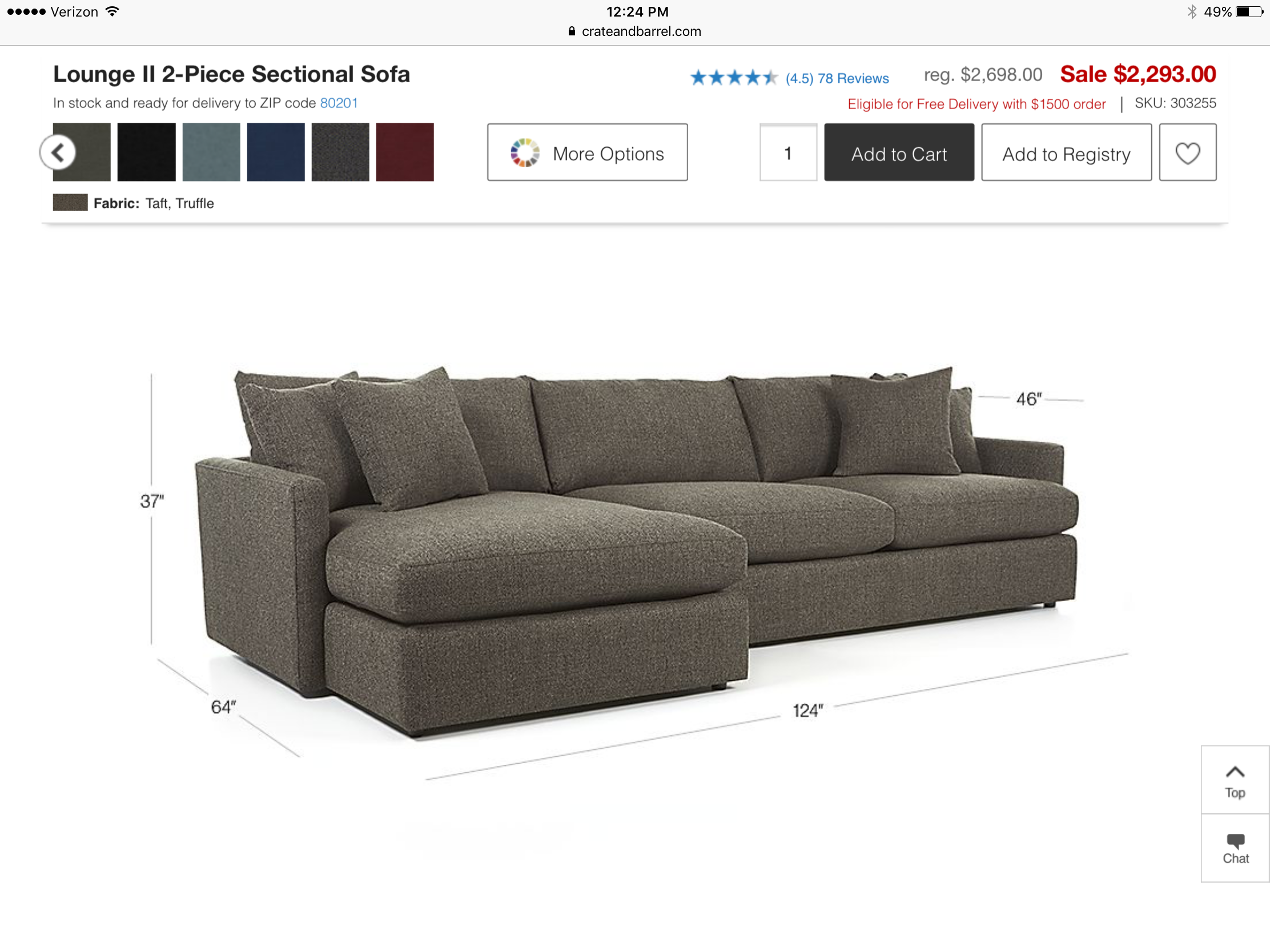 Admirable Lounge 2 Piece Sectional Sofa From Crate Barrel This Is Ibusinesslaw Wood Chair Design Ideas Ibusinesslaworg