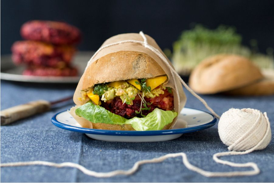 Rote Beete Burger Foodstyling: Tabea Kerner