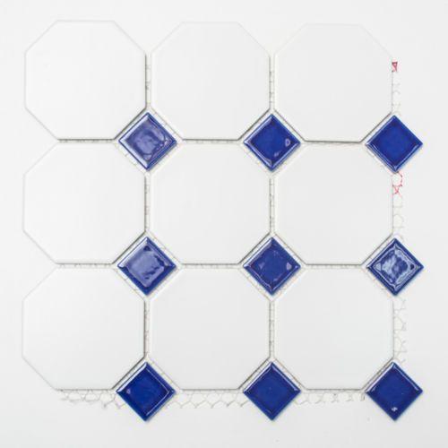 Fliesen Mosaik Kueche Bad Keramik Classic Octa Weiss
