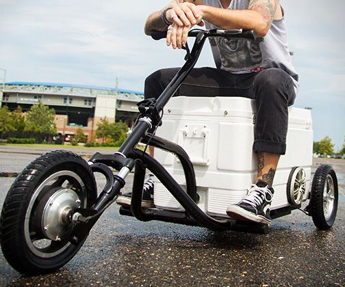Motorized drink cooler coolers drink coolers and wheels for Motor cooler on wheels