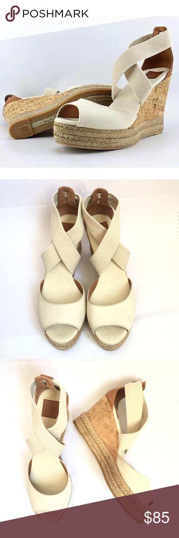 a9a0264b99 TORY BURCH - 85MM Peep-Toe Cork Wedge Sandals