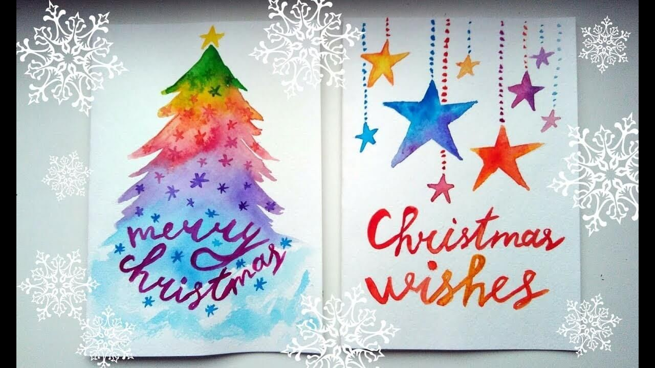 Best Diy Christmas Card Ideas Of 2018 Watercolor Christmas Cards Diy Christmas Cards Christmas Card Design