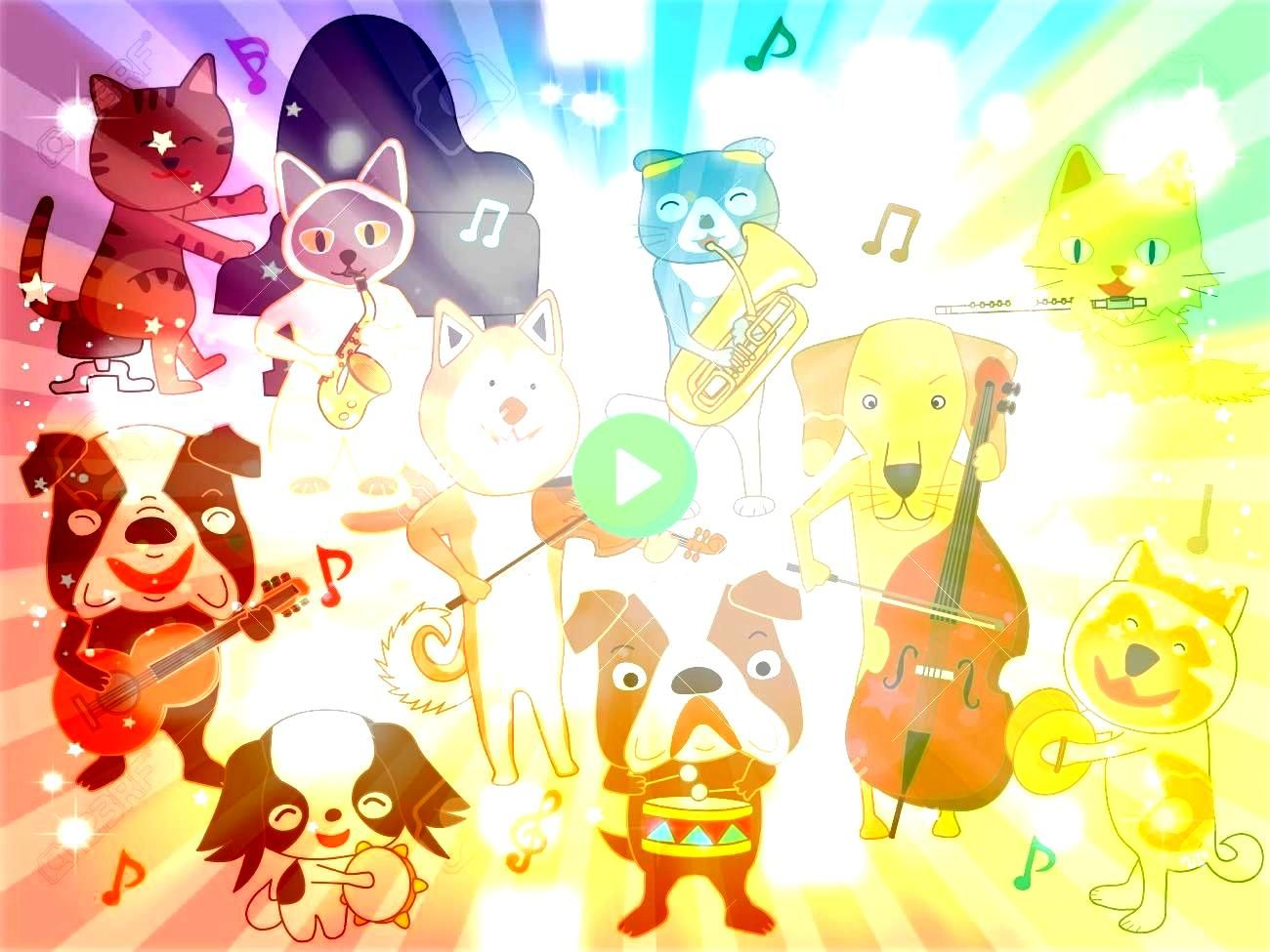 for dogs and cats Dogs and cats are playing instruments Illustration The concert for dogs and cats Dogs and cats are playing instruments Illustration  Learn to manipulate...