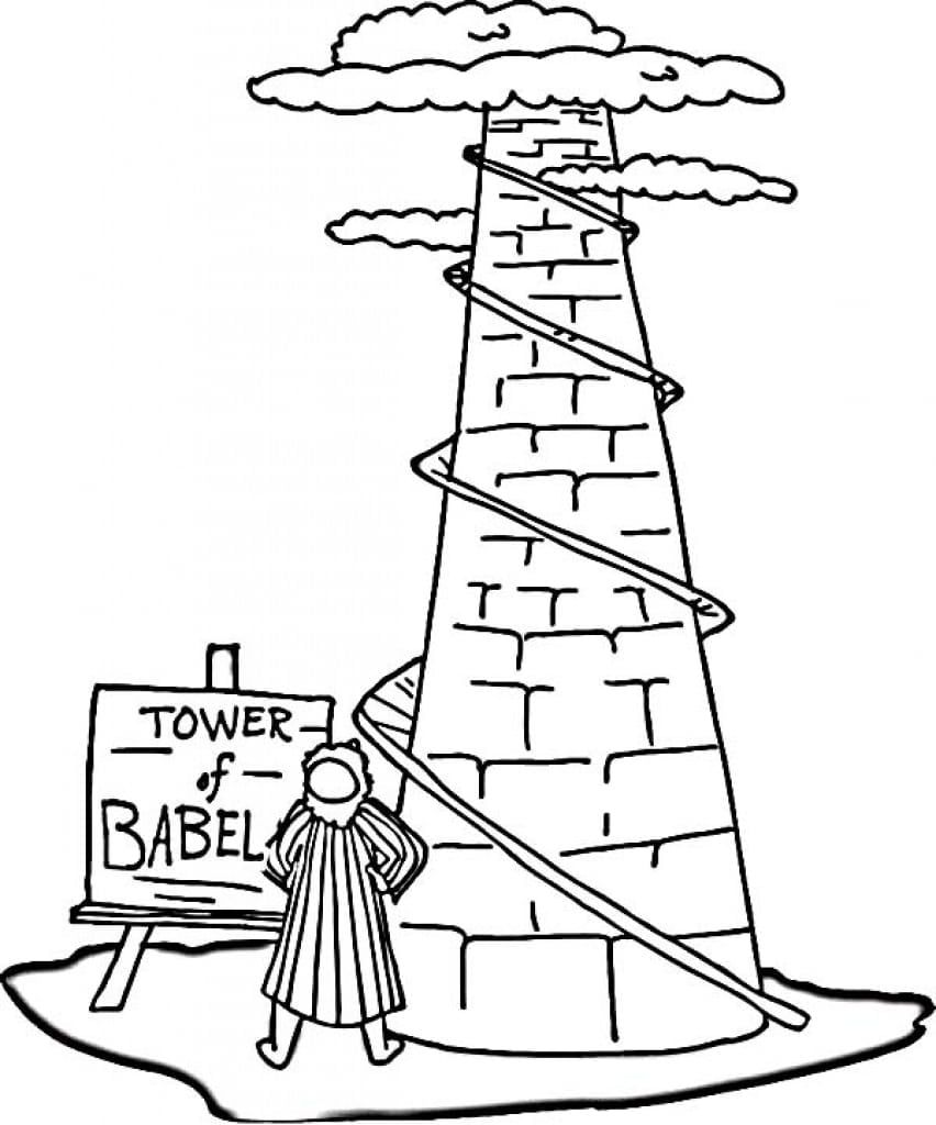 Tower Of Babel Coloring Page | Coloring pages ...