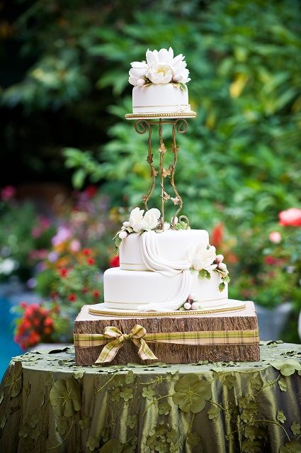Love the cake, the stand. and the linens. Perfect