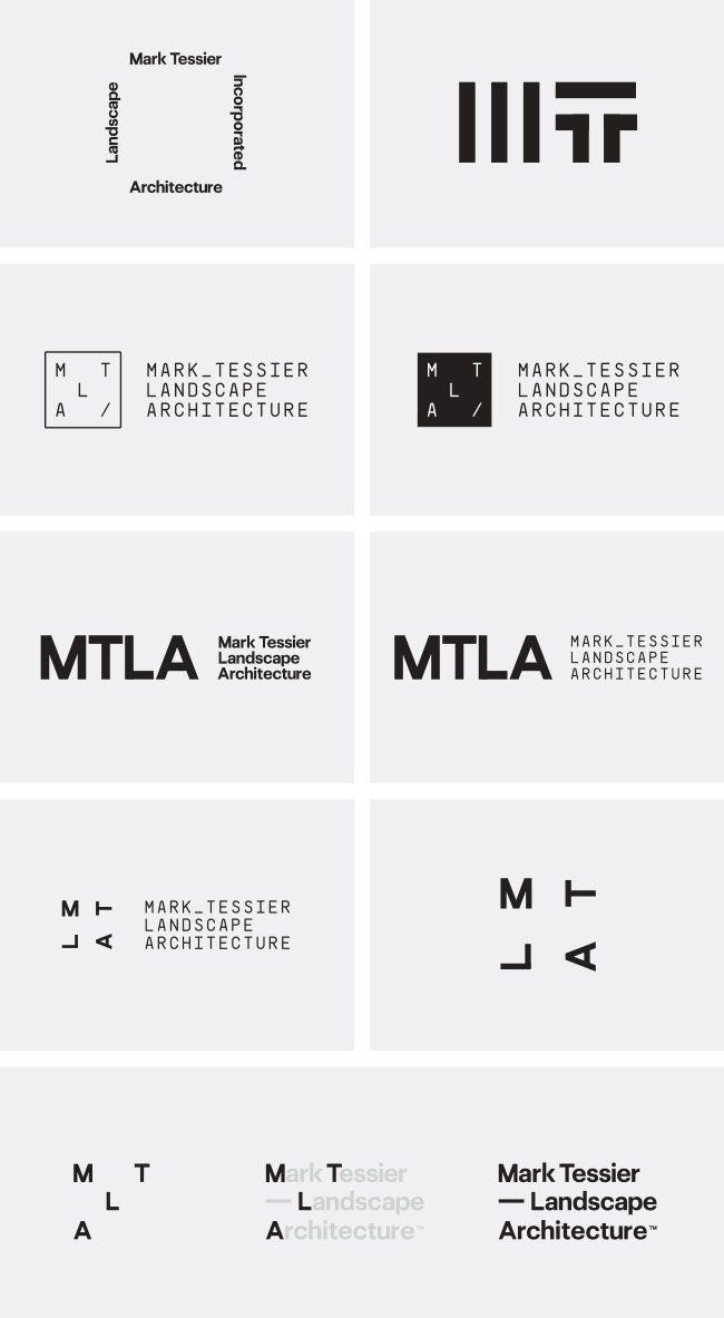 Mark Tessier Landscape Architecture - Identity Designed