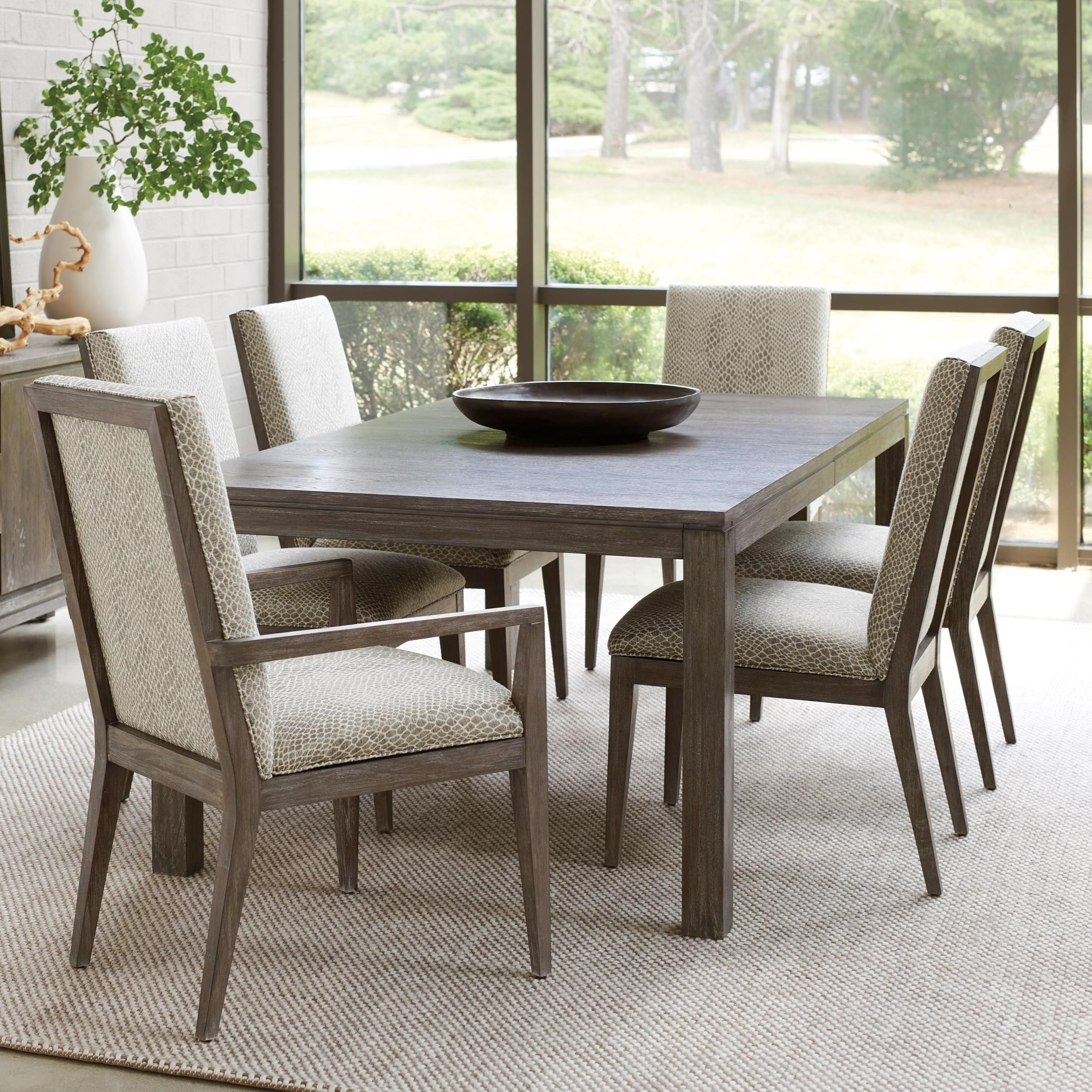 Santana Seven Piece Dining Set With Marin Table And Customizable Dining Chairs By Lexington At Baer S Furniture Rectangular Dining Table Dining Table Dining Table With Leaf