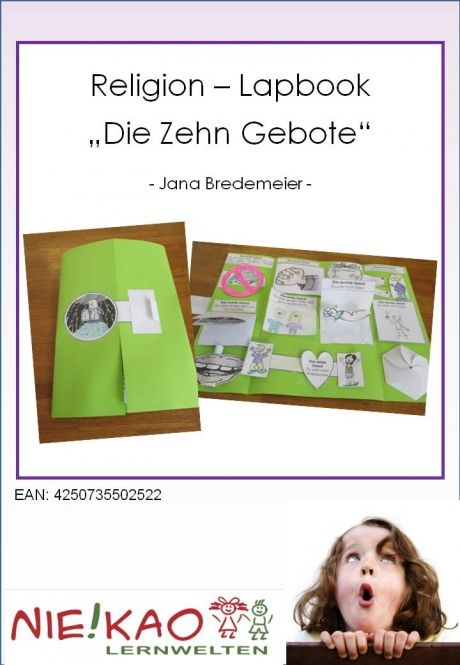 religion lapbook die zehn gebote einzel cd religion. Black Bedroom Furniture Sets. Home Design Ideas