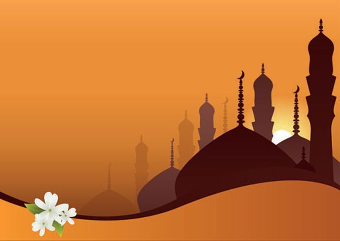 Ramadan Background Landscape Vector Silhouette Webbyarts Download Free Vectors Graphics Icons Free Vector Downloads Icon Design Backgrounds Ramadan Background Islamic Background Vector Landscape Background