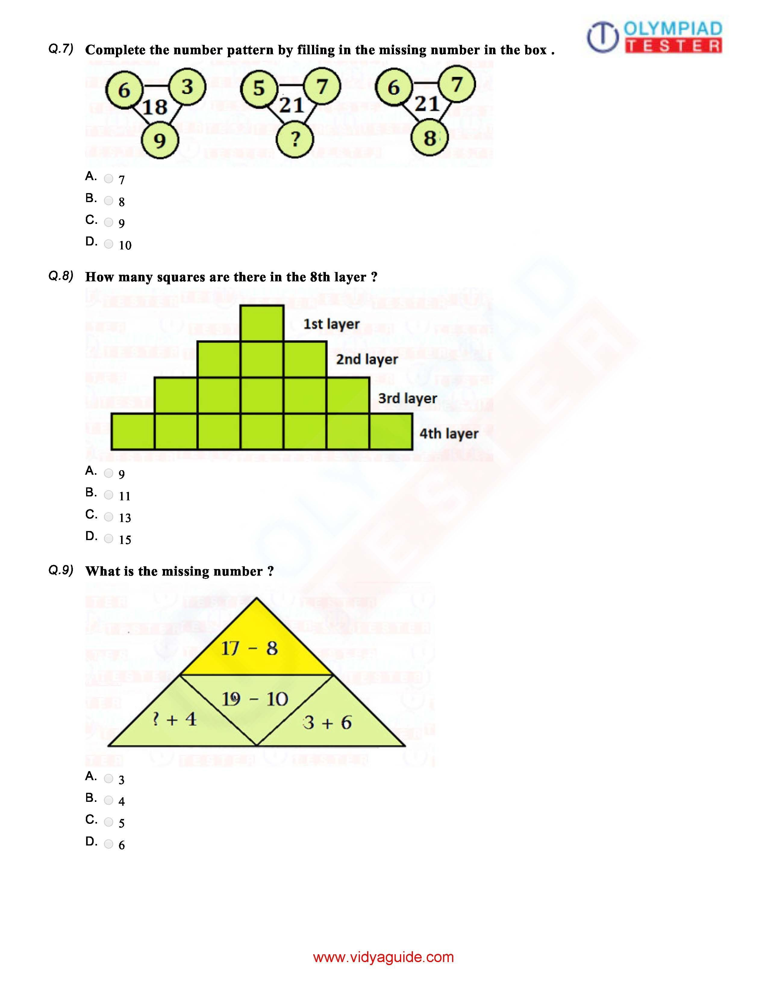 Download Grade 1 Maths Olympiad Sample papers as PDF ...