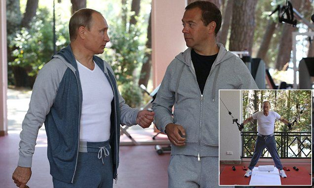 Putin Wore 2000 Silk And Cashmere Tracksuit For Gym Photoshoot