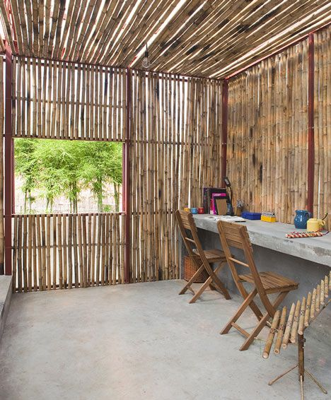 Low Cost Bamboo House Design : bamboo, house, design, House, Trong, Nghia, Framed, Panels, Bamboo, Design,, House,, Housing