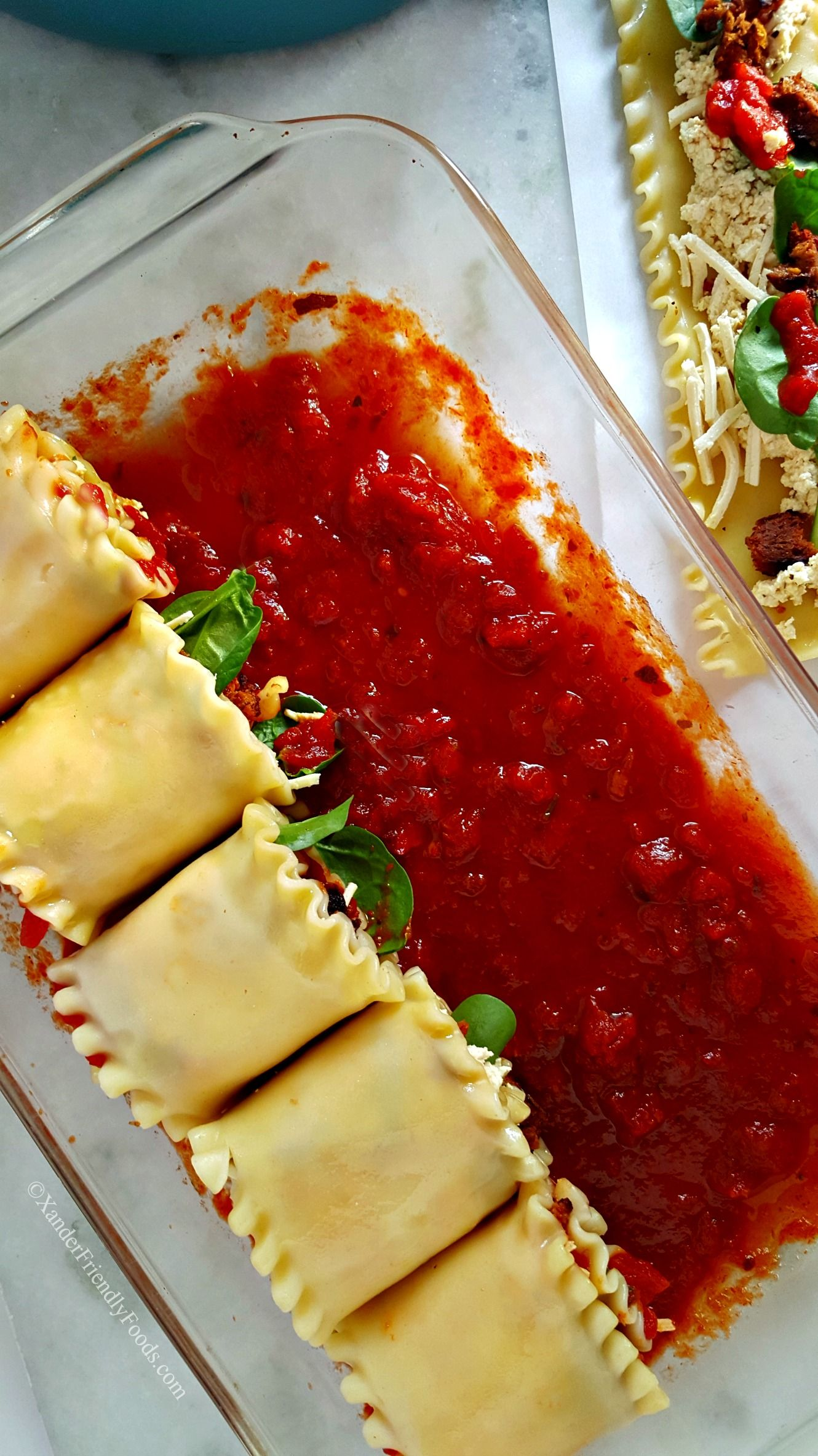 dairy free lasagna roll ups