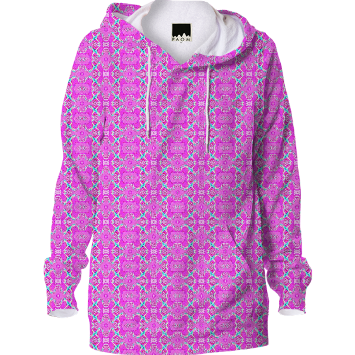 Pink Pattern Hoodie from Print All Over Me