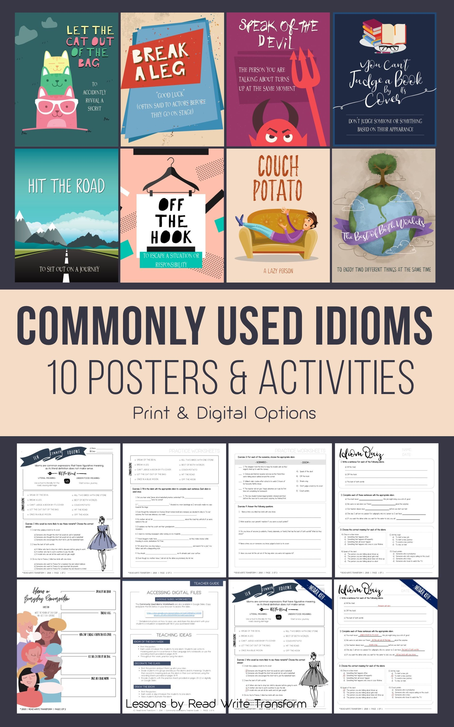 10 Commonly Used Idioms