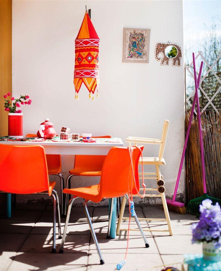 Orange Chairs Outdoors Decor