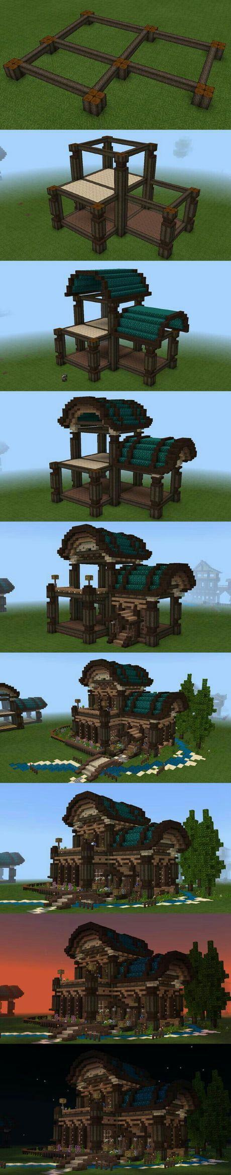 Wie baue ich mein Traumhaus in Minecraft? -  Wie baue ich mein Traumhaus in Minecraft – 9GAG  - #baue #diyDreamhouse #diyhomecrafts #homediyorganizations #Ich #mein #minecraft #Rustichouse #traumhaus #Wie #minecrafthouses