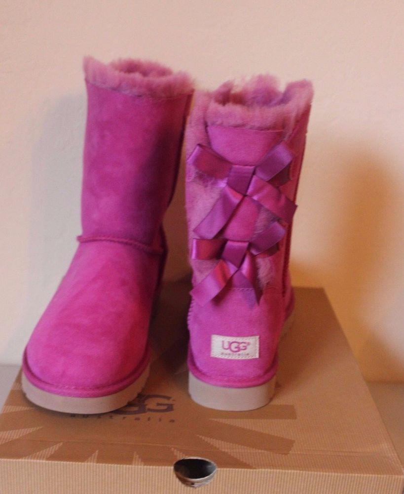 5970cbf855a UGG Australia Women's Bailey Bows Pink Boots Size 10 - Brand NEW ...
