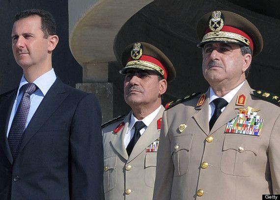 Syriens Präsident Bashad Assad und seine Militärführung