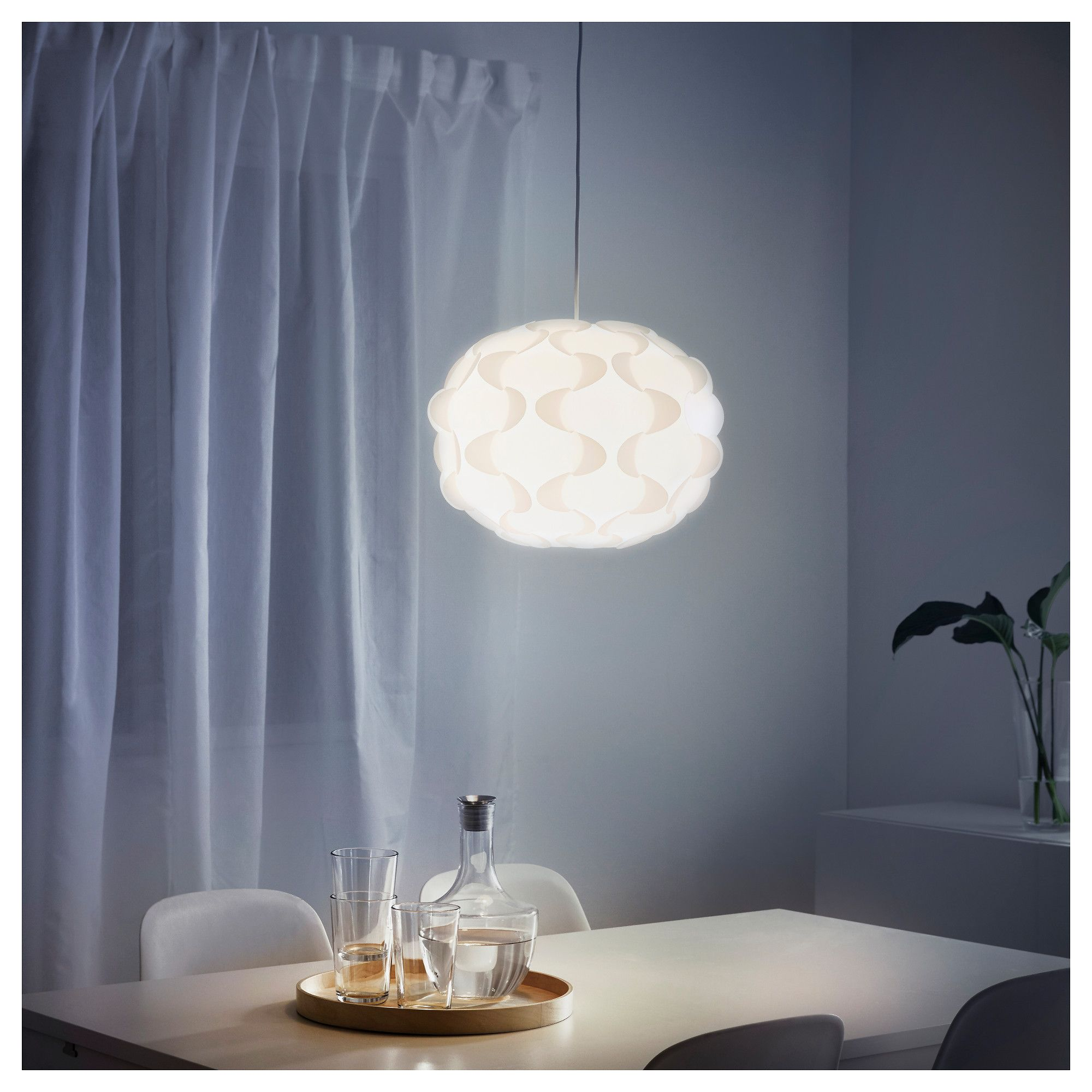 IKEA FILLSTA pendant lamp Diffused light that provides good general