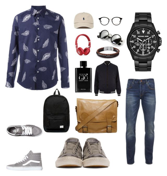 """""""Class-street"""" by didiana14 on Polyvore featuring Scotch & Soda, Paul Smith, Vans, John Varvatos, Michael Kors, Herschel Supply Co., VIPARO, Yves Saint Laurent, Beats by Dr. Dre and Giorgio Armani"""