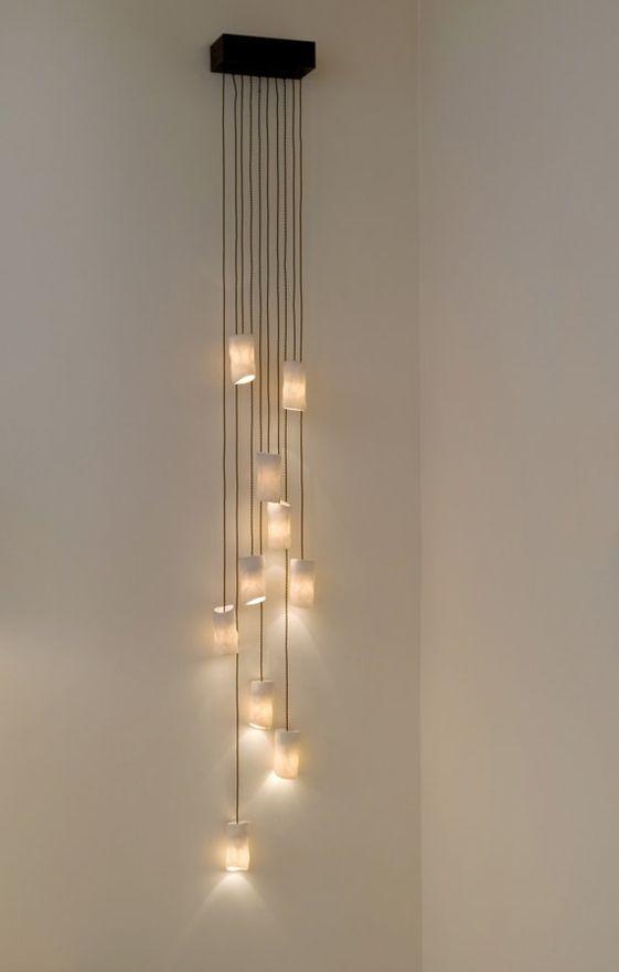 Pin de Beatriz Falco en LUMINARIAS Pinterest Escalera - lamparas para escaleras