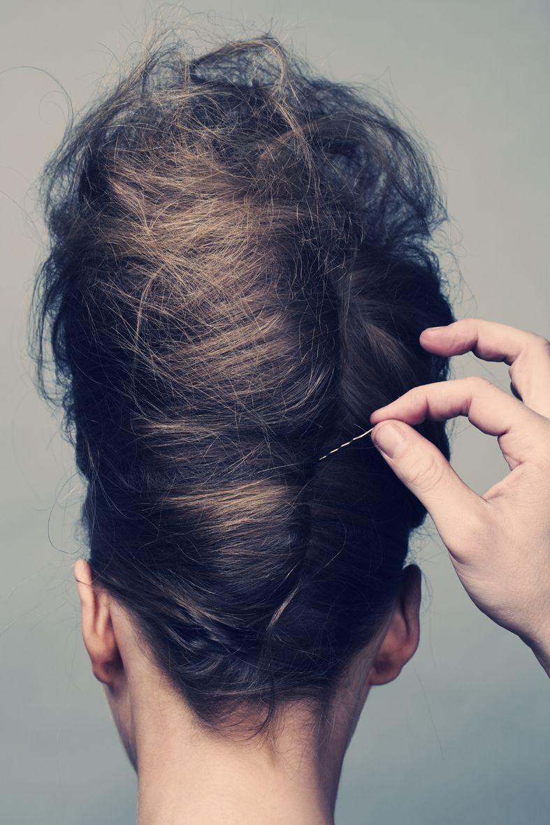 Teased french twist b i g h a i r u b o u f f a n t s Big hair I