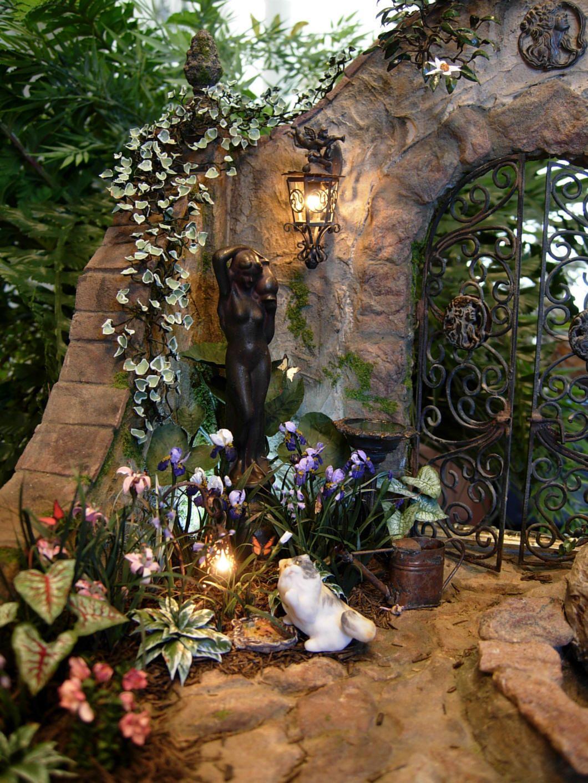 Miniature garden statue fantasy gardens fairy mini - Miniature plants for fairy gardens ...