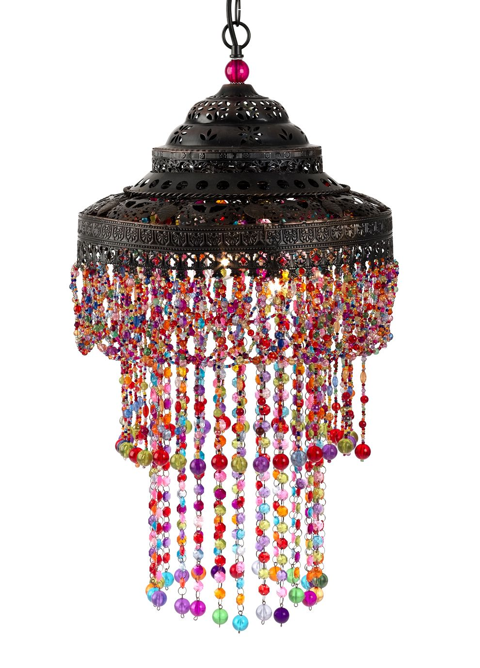 Moroccan Beaded Hanging Lamp Hmn This Gives Me An Idea Or Two