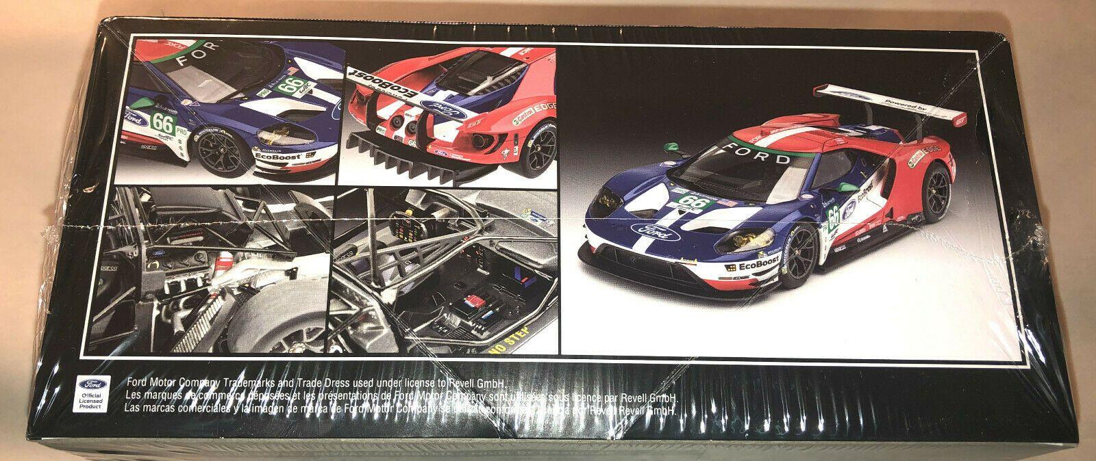 Revell Ford Gt Le Mans 2017 1 24 Scale Plastic Model Kit New 4418 Ford Gt Plastic Model Kits Ford Gt Le Mans